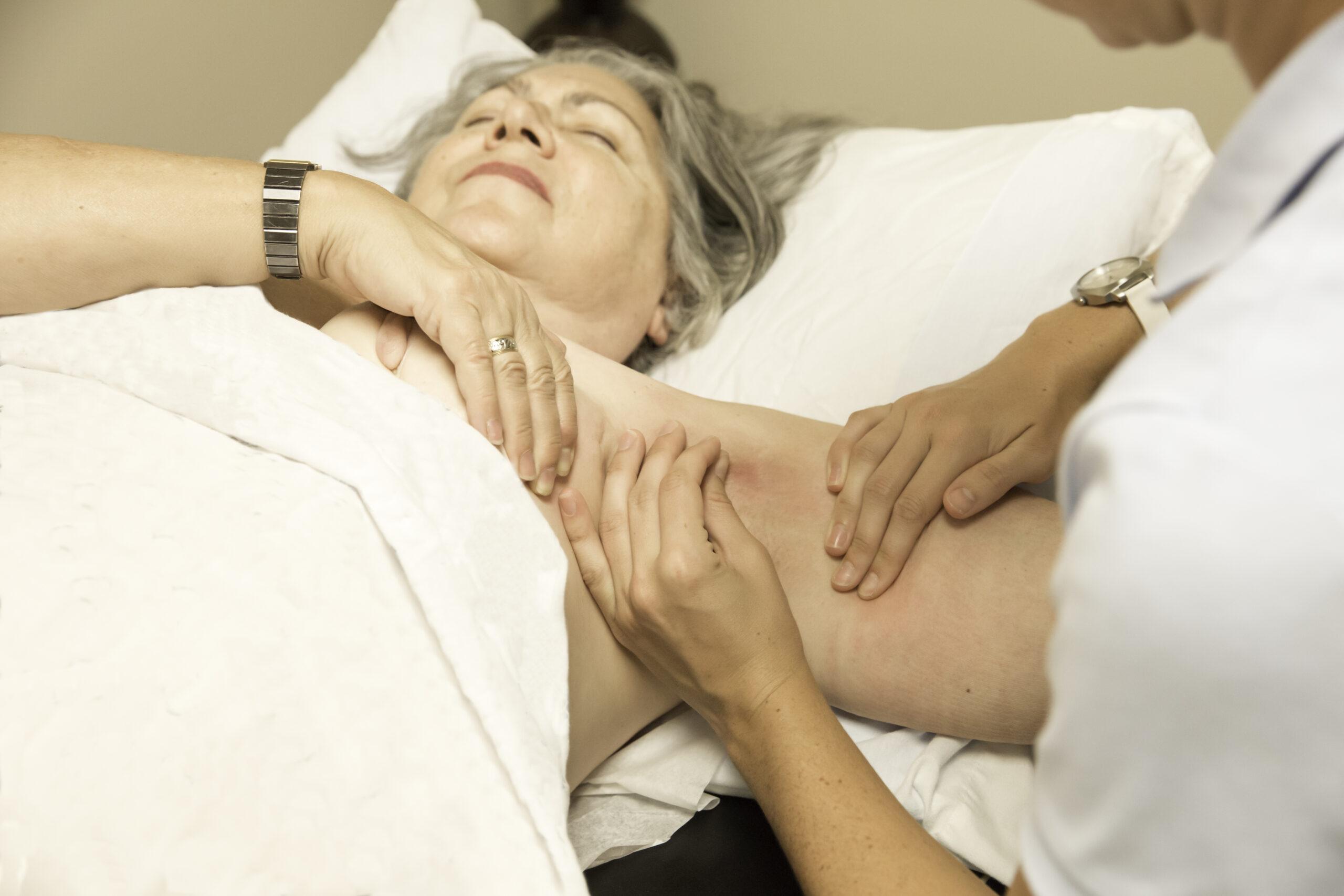 A professional lymphatic massage
